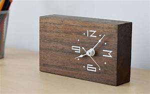 Contemporary wooden clock designs