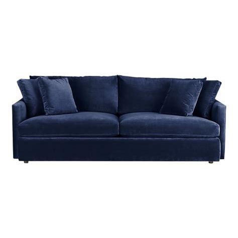 navy blue sofa lounge 93 quot sofa