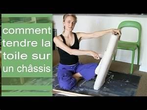 Comment Encadrer Une Toile : comment tendre la toile sur un ch ssis youtube ~ Voncanada.com Idées de Décoration