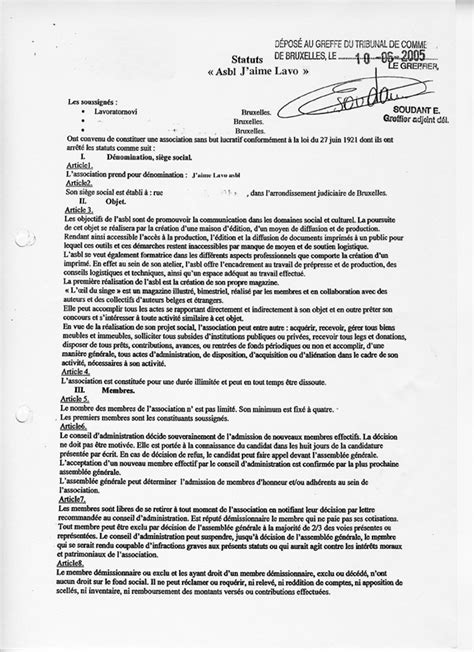 exemple reglement interieur association loi 1901 modele statuts association document