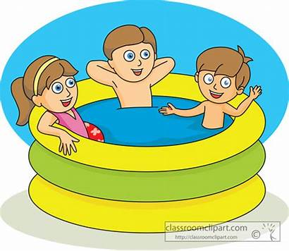 Pool Clip Summer Clipart Kiddie Swimming 03a