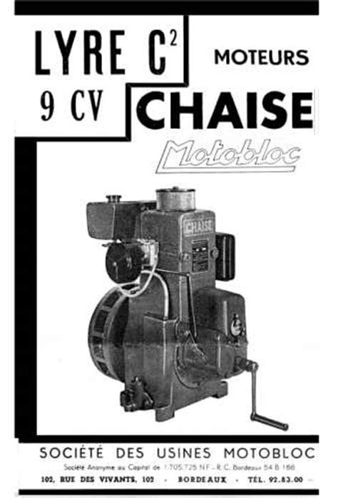 about chaise documentation technique sur les moteurs chaise