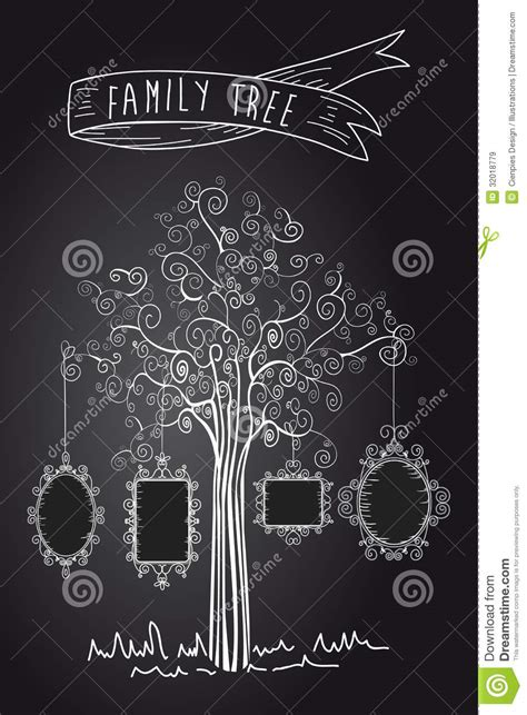 vintage family tree royalty  stock images image