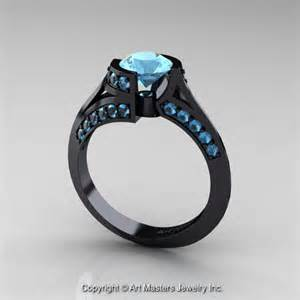 black gold engagement ring exclusive 14k black gold 1 0 ct aquamarine engagement ring wedding ring r376 14kbgaq