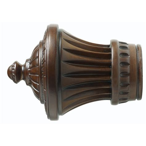 wooden drapery rods and brackets wood trends classics 3 quot charleston finial williams