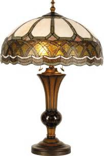 cameron tiffany style table l with stained glass shade