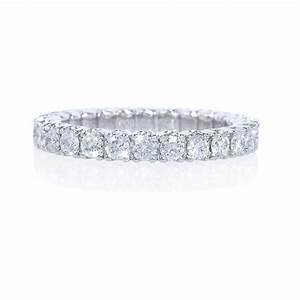 123ct Diamond Platinum Eternity Wedding Band Ring