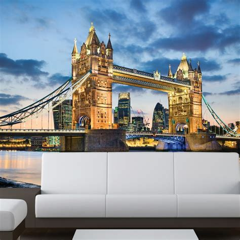 tower bridge london wall mural city skyline wallpaper