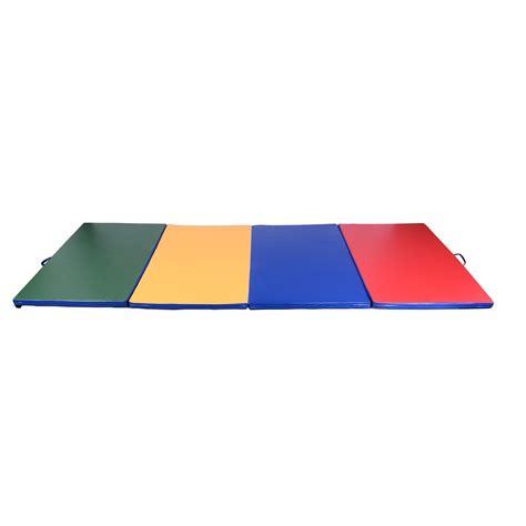 homcom tapis de gymnastique pliable natte de matelas