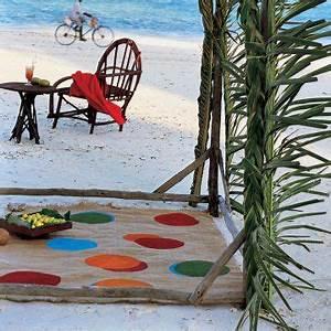 Tapis En Toile De Jute : un tapis en toile de jute peinte burlap creativity and ~ Teatrodelosmanantiales.com Idées de Décoration
