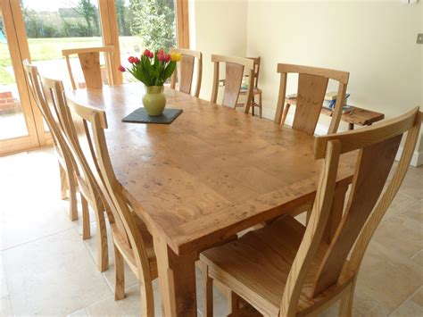 big dining room tables large pippy oak dining table and chairs quercus furniture