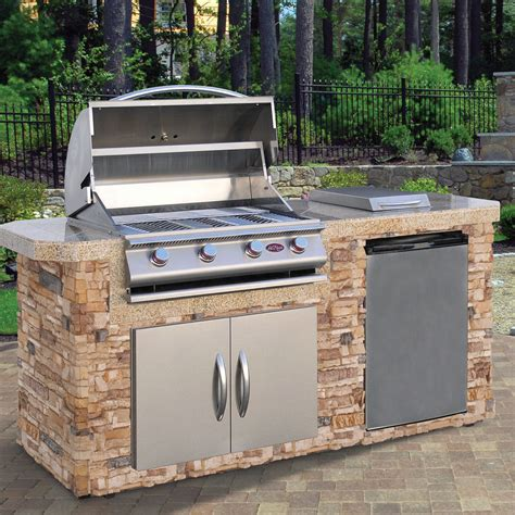 Kitchen Countertop Tile Design Ideas - complete 84 quot nat gas outdoor kitchen island bbq side burner refer double doors ebay