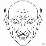 Coloring Colorare Halloween Maschere Vampire Mask Carnevale Vampiro Disegni Mostro Printable Outline Mostri Colorear Vampir Disegno Stampare Maschera Dibujo Pipistrello sketch template