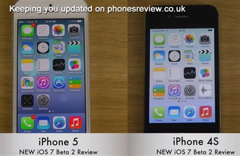 new update for iphone iphone 5 vs 4s 4 on new ios 7 beta update