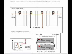 charging a 24 volt and a 12 volt battery system With 24 volt solar panel wiring diagram