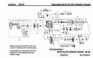 Abu Garcia Revo Elite Power Crank Schematics