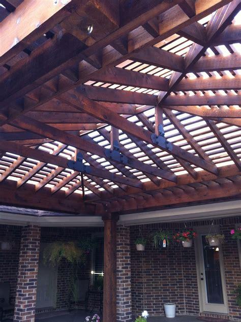 Hip Roof Pergola by Lubbock Pergola Hip Roof Pergola In Regal Park