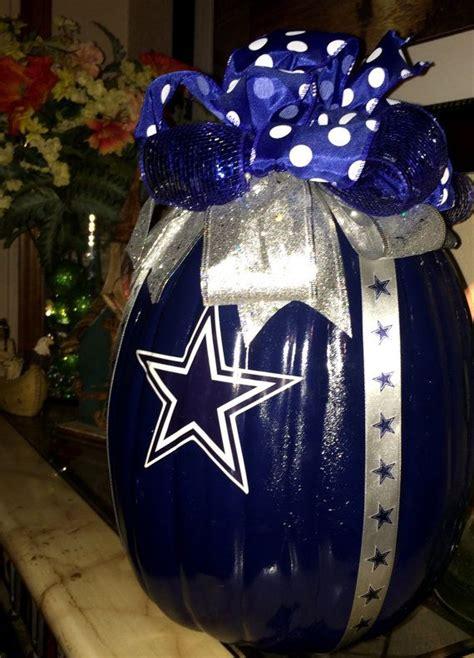 dallas cowboy decorations dallas cowboys decorative craft pumpkin by