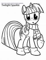 Pony Coloring Twilight Sparkle Mlp sketch template