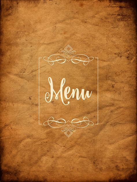 decorative grunge menu background   vectors