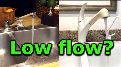 fix faucet kitchen how to fix low water pressure in kitchen or bathroom