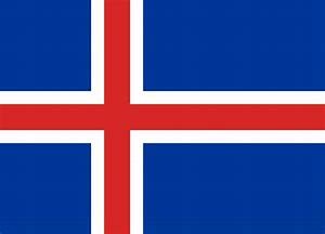 Iceland flag vector - country flags
