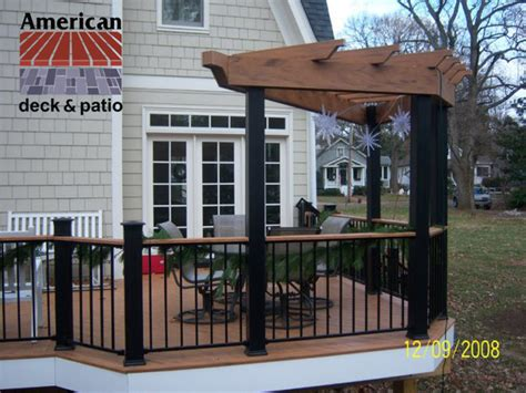 timbertech trellis traditional patio other metro