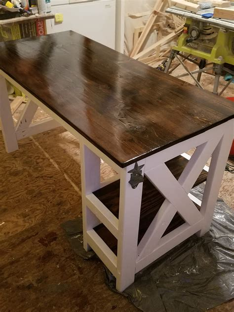 ana white farmhouse  desk diy projects