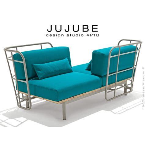 coussin d assise pour canapé canapé d 39 intérieur 2 places jujube structure acier