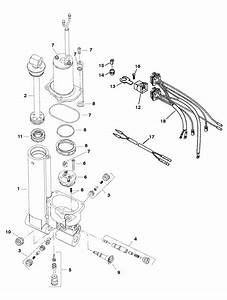 Force 40 Hp  1997  Power Trim Assembly Parts