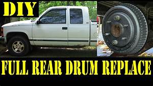 1995 Chevy K1500 Complete Rear Drum Brakes Replacement 4x4 - Tips N Tricks
