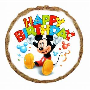 Happy Birthday Mickey Mouse : mickey mouse happy birthday dog treat cookie with same day shipping baxterboo ~ Buech-reservation.com Haus und Dekorationen
