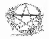 Wiccan Coloring Pages Pagan Wicca Pentacle Adults Printable Tattoo Pentagram Adult Drawing Witch Colouring Etsy Drawings Print Witchcraft Books Star sketch template