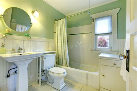 Refreshing Mint Bathroom Stock Photo. Image Of Bath