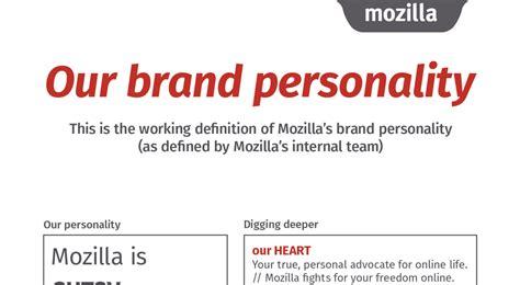 brand personality mozilla open design