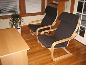 2 IKEA PONG Armchairs