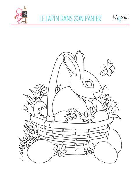 jeu cuisine coloriage du lapin de pâques momes