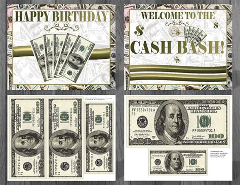 Money Theme Party Supplies  Money Themed Decorations