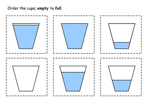 math capacity worksheets kindergarten measurement