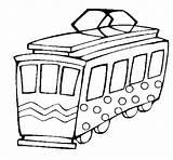 Tram Coloring Coloringcrew Trains sketch template