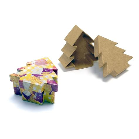 paper mache christmas tree box decopatch and paper mache