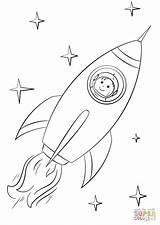 Rocket Coloring Astronaut Space Boy Razzo Flying Ausmalbilder Ship Disegno Spaziale Zum Ausmalbild Astronauta Ausmalen Printable Moon Malvorlagen Ausdrucken Raumschiff sketch template