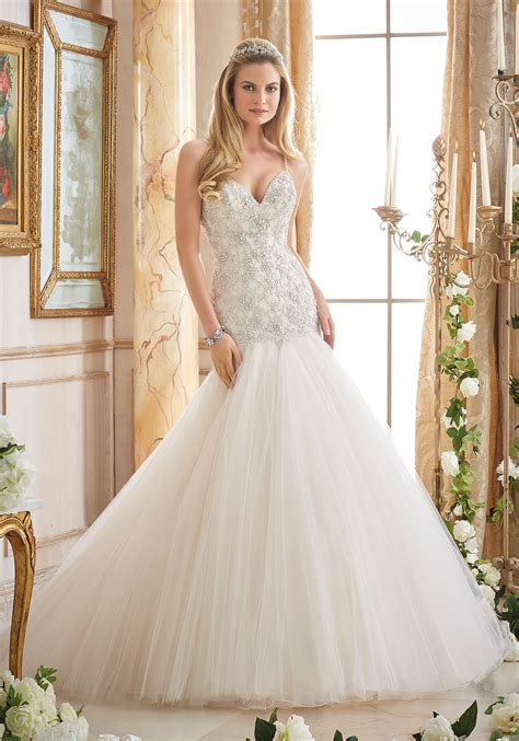 morilee wedding dress crystallized embroidery on tulle morilee wedding dress