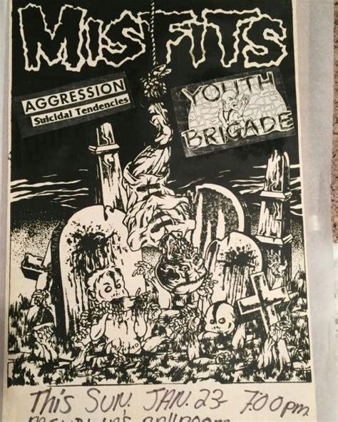 photo tumblr  misfits flyer punk poster concert