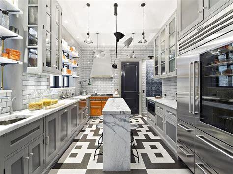 gray kitchen  orange accents contemporary kitchen