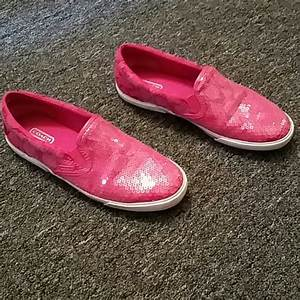Coach - 🍬 Sale 🍬Adorable sequin Pink Coach sneakers from ...