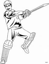 Cricket Batsman Draw Coloring Scribblefun Clipart Drawing Sketch sketch template