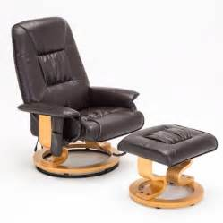 Swivel Recliner Chairs Walmart by Uenjoy Real Leather Recliner Chair With Ottoman