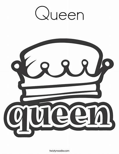 Coloring Queen Crown Queens Template Noodle Victorian