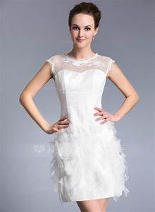 Sheath column scoop neck short mini lace wedding dress for Scoop neck sheath wedding dress